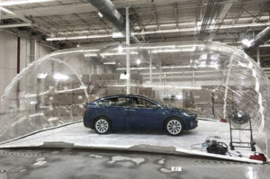 tesla cabin air test